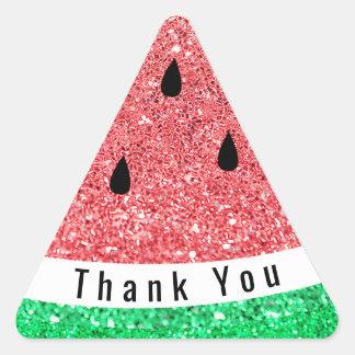 le phoque d'enveloppe vous remercient pastèque de sticker triangulaire
