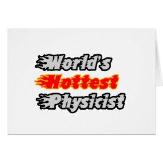 Le physicien le plus chaud du monde carte de vœux