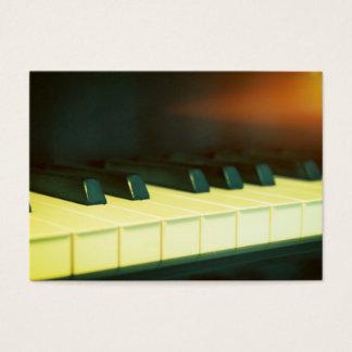 Le piano à queue de style vintage élégant cartes de visite