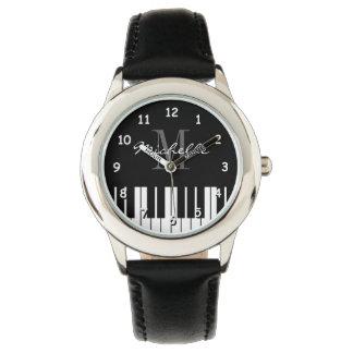 Le piano à queue verrouille la montre d'enfants montres cadran