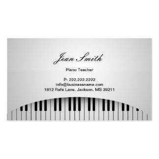 Le piano blanc pur verrouille la carte de profil carte de visite standard