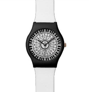 Le piano de cercle verrouille le cercle des montres bracelet