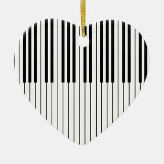 Le piano verrouille blanc et noir ens ivoire ornement cœur en céramique