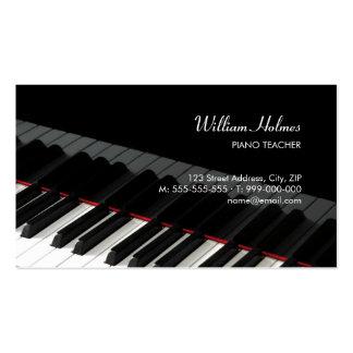 Le piano verrouille la carte d industrie musicale cartes de visite professionnelles