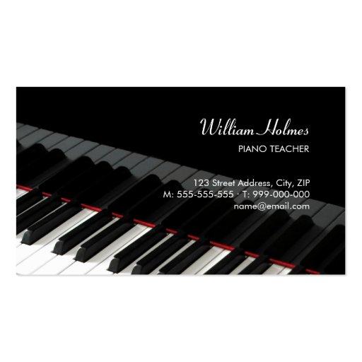 Le piano verrouille la carte d'industrie musicale cartes de visite professionnelles