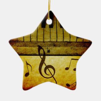 Le piano verrouille le cru ornement étoile en céramique