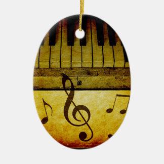 Le piano verrouille le cru ornement ovale en céramique