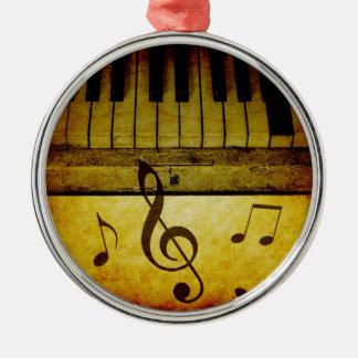 Le piano verrouille le cru ornement rond argenté