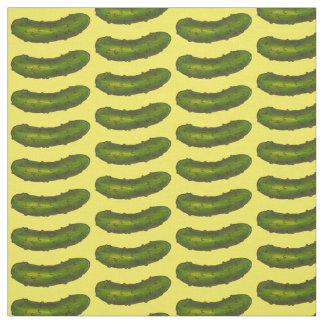 Le pickle à l'aneth jaune vert marine le tissu de
