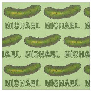 Le pickle à l'aneth vert nommé personnalisé marine tissu