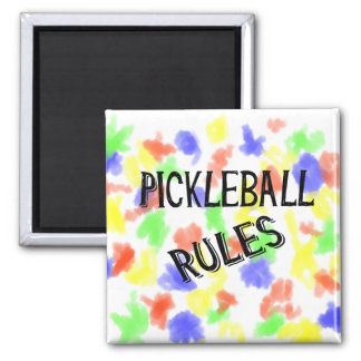 le pickleball ordonne la boule noire de conserves aimant