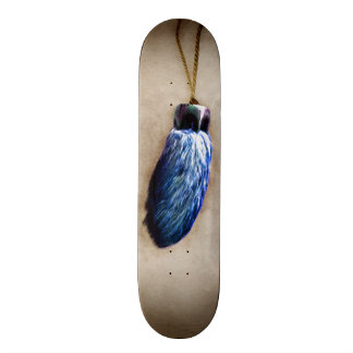 Le pied de lapin chanceux bleu skateboard  20 cm