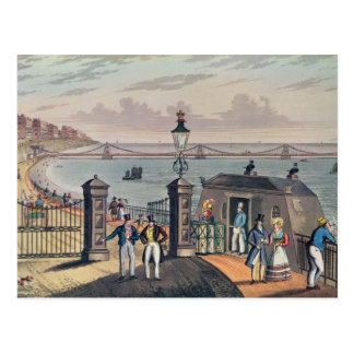 Le pilier à chaînes sur l'avant à Brighton Carte Postale
