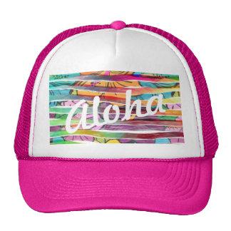 Le pinceau coloré vibrant barre le Hawaïen Casquette De Camionneur