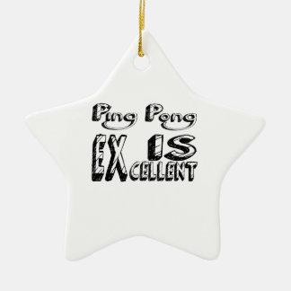 Le ping-pong est excellent ornement étoile en céramique