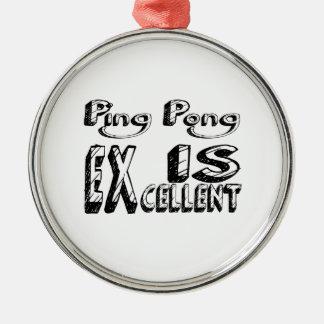 Le ping-pong est excellent ornement rond argenté