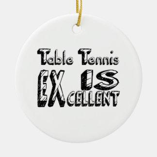 Le ping-pong est excellent ornement rond en céramique