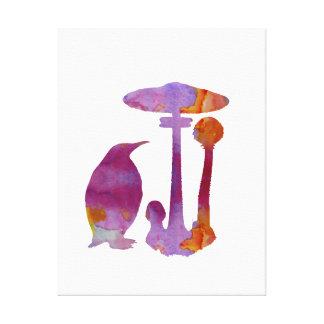 Le pingouin et le champignon toiles