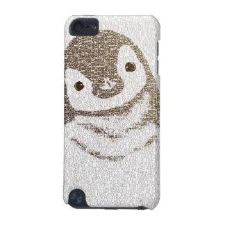 Le pingouin intellectuel - art de typographie coque iPod touch 5G