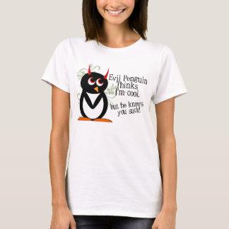 Le pingouin mauvais sait que vous sucez t-shirt