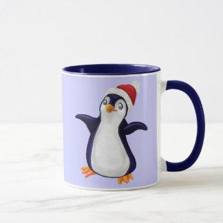 Le pingouin, où est ma caresse de Noël ? Tasse