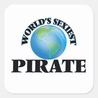 Le pirate le plus sexy du monde sticker carré