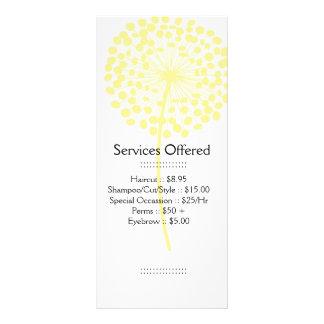 Le pissenlit jaune entretient la carte de support cartes doubles customisables