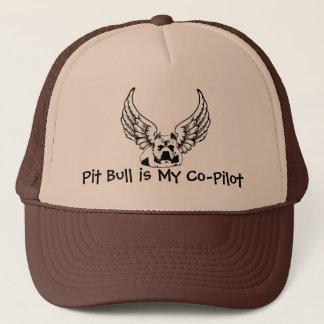 Le pitbull est mon co-pilote - casquette de boule