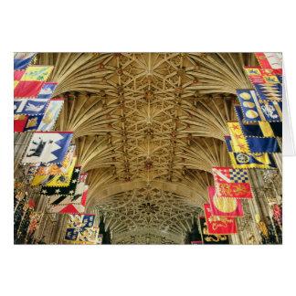 Le plafond de la chapelle de St George, Windsor Carte De Vœux