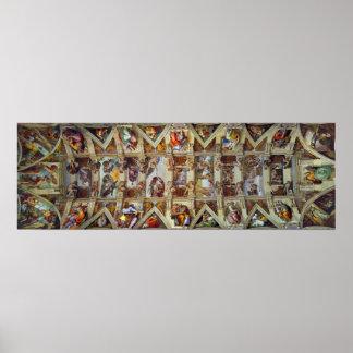 Le plafond de l'affiche de chapelle de Sistine Poster
