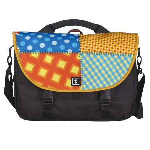 Le plaid piquant cousu coloré modèle le Ba de Lapt Sacoches Pour Ordinateurs Portables