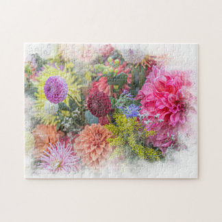 Le plaisir du jardinier de manie de dahlia puzzle