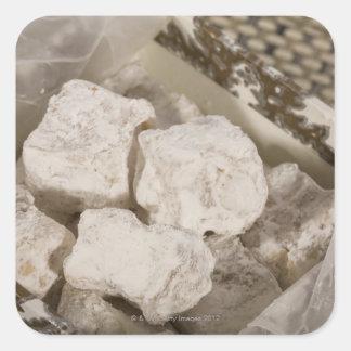 Le plaisir turc (remplaçant) est une sucrerie sticker carré