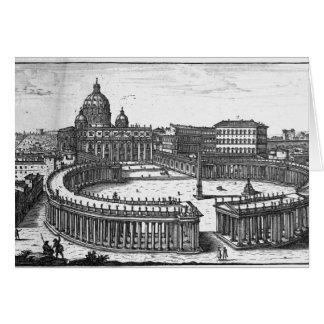 Le plan original de Bernini pour le carré de St Carte De Vœux