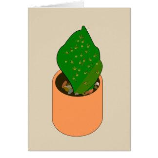Le plante de cactus signifie des épines d'image carte de vœux