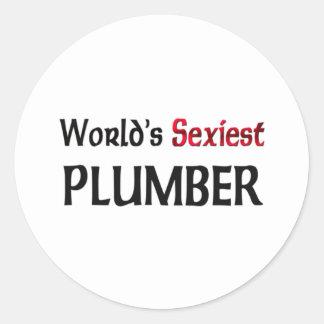 Le plombier le plus sexy du monde autocollants