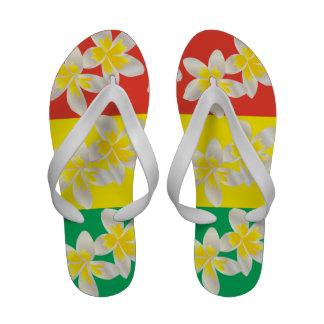 Le Plumeria de reggae d Hawaï fleurit des bascules Chaussures De Plage
