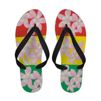 Le Plumeria de reggae d Hawaï fleurit des bascules Flip Flops