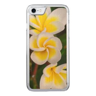 Le Plumeria fleurit le plan rapproché, Hawaï Coque Iphone 7 En Bois