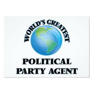 Le plus grand agent du parti politique du monde cartons d'invitation personnalisés
