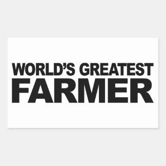 Le plus grand agriculteur du monde sticker rectangulaire