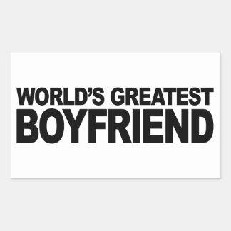 Le plus grand ami du monde sticker rectangulaire