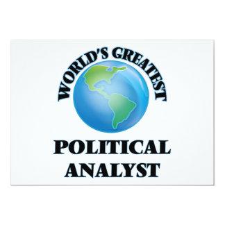 Le plus grand analyste politique du monde invitations personnalisables