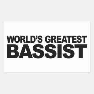 Le plus grand bassiste du monde sticker rectangulaire