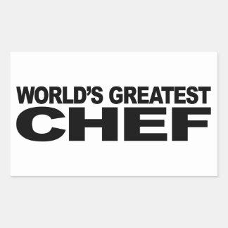 Le plus grand chef du monde sticker rectangulaire