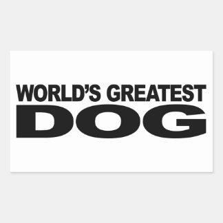 Le plus grand chien du monde sticker en rectangle