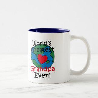 Le plus grand coeur du grand-papa du monde mug à café