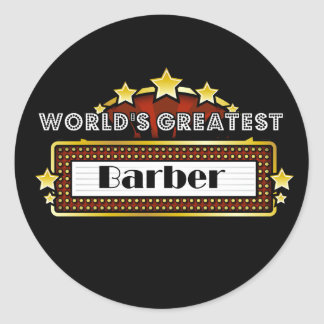 Le plus grand coiffeur du monde autocollants ronds