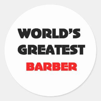Le plus grand coiffeur du monde sticker rond