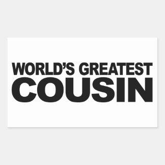 Le plus grand cousin du monde autocollant rectangulaire